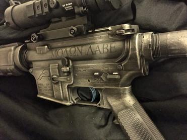 Cerakote Distressed AR Rifle