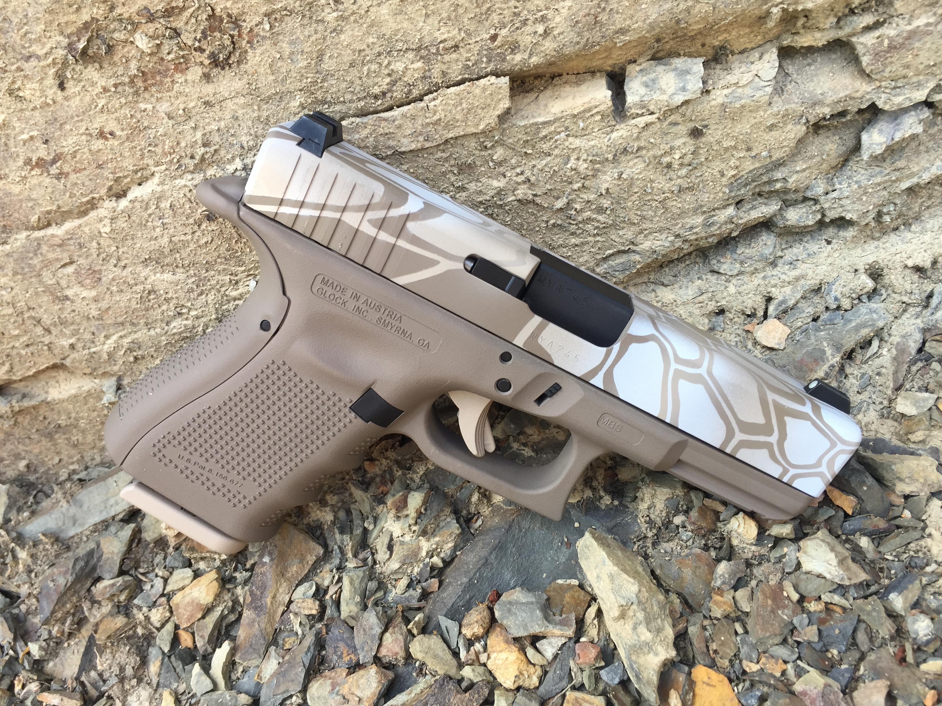 Cerakote Upper Hexagon Handgun