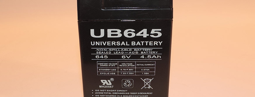 Rechargeable 6 Volt 4 Amp Battery
