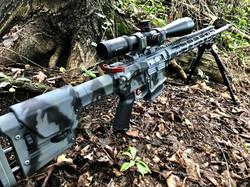 Cerakote Camo AR Rifle