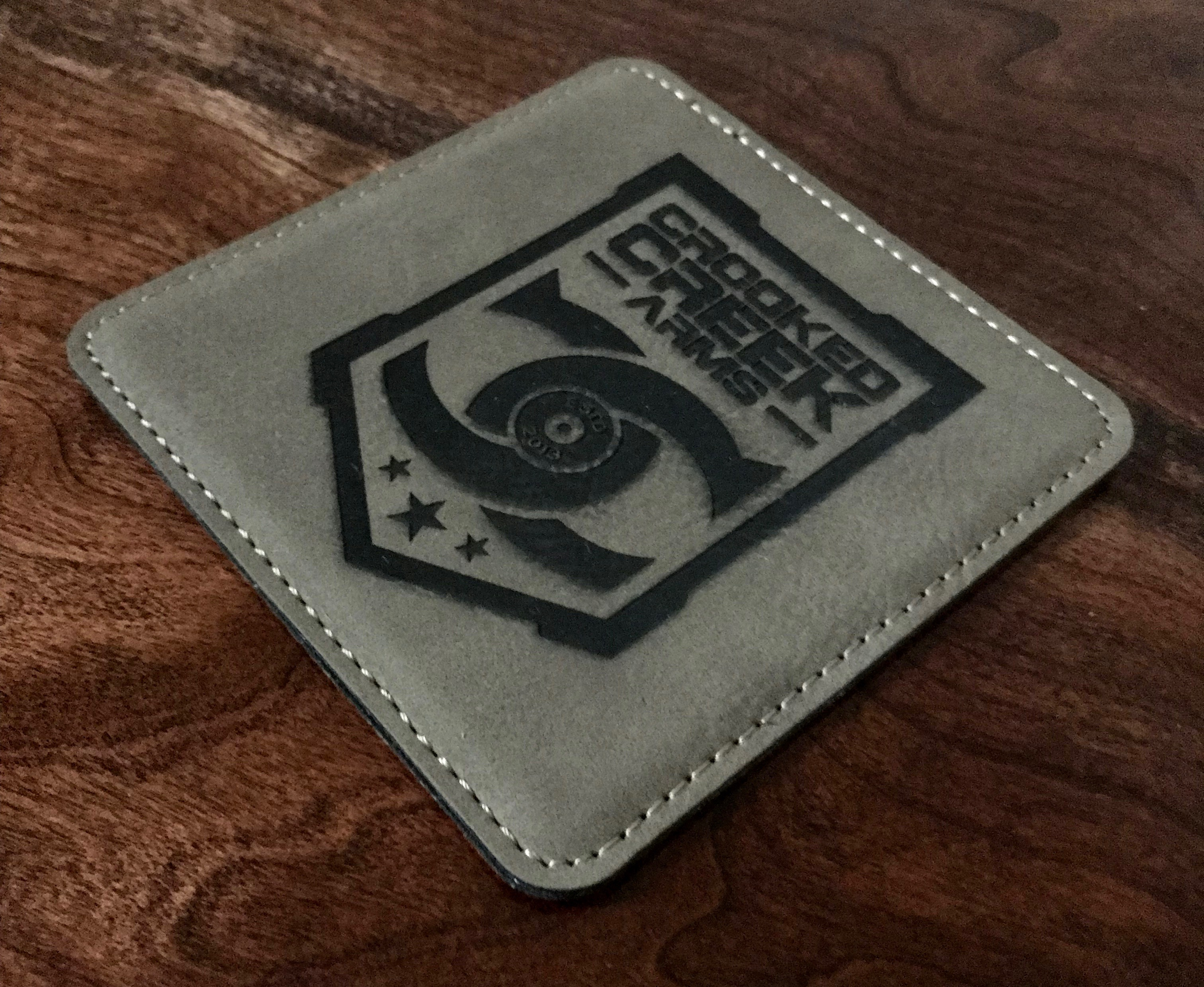 Laser Etch Leather Coaster