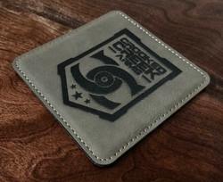 Laser Etch Leather Coaster