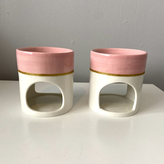 Pink & White Mini Burner