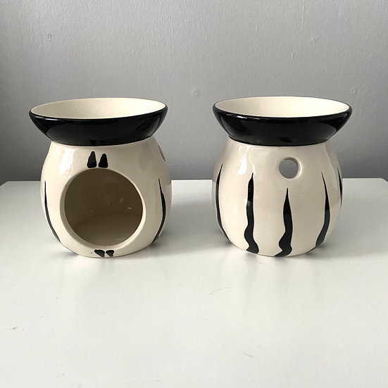 Black & White Mini Ceramic Burner