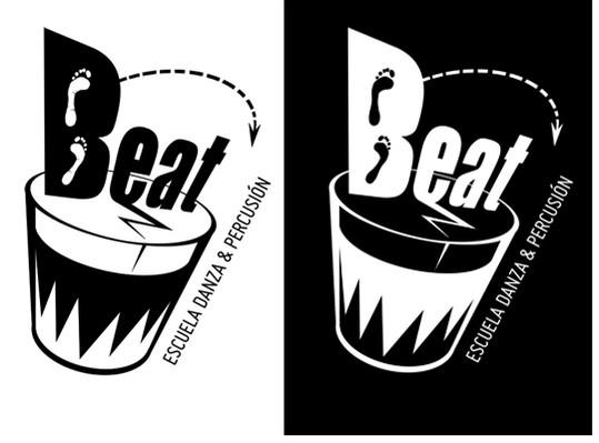 Isologo para Beat, versiones B/N y N/B