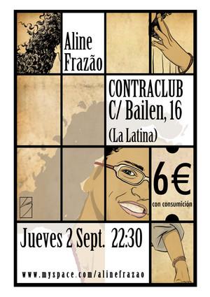 Poster concierto Aline Frazao