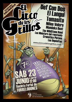 """Poster Festival Música Solidario """"El Circo de los Grillos"""""""
