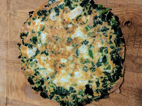 Mustard green frittata