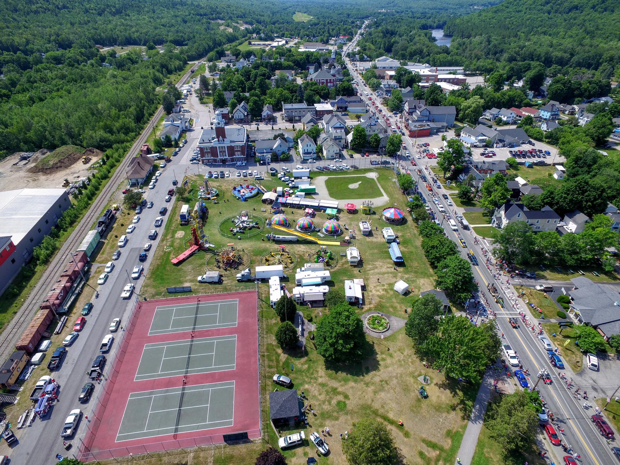 Gorham Common Drone Shot