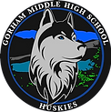 Huskey Husky Huskie Logo Circle Colored
