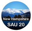 New Hampshie SAU 20 text with Mount Washington in the background