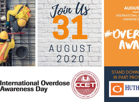 Construction Industry Opioid Stand Down - August 31st