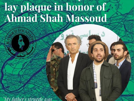 BHL and the City of Paris lay plaque in honor of Ahmad Shah Massoud