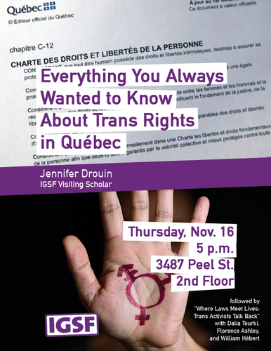 Trans Rights in Québec (poster)