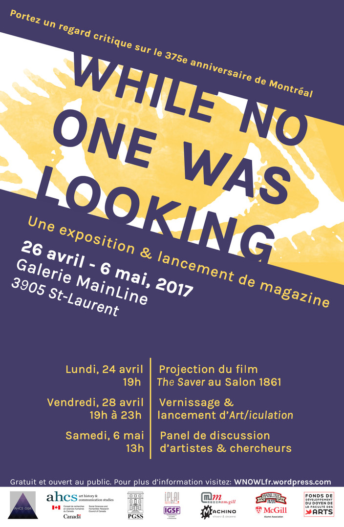 While No One Was Looking, French (poster)