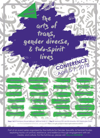 The Arts of Trans Lives Conference (poster)