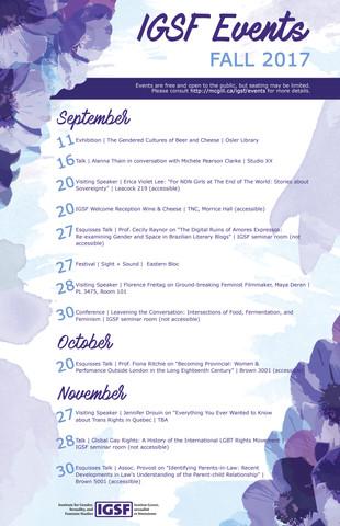 Fall Calendar 2017