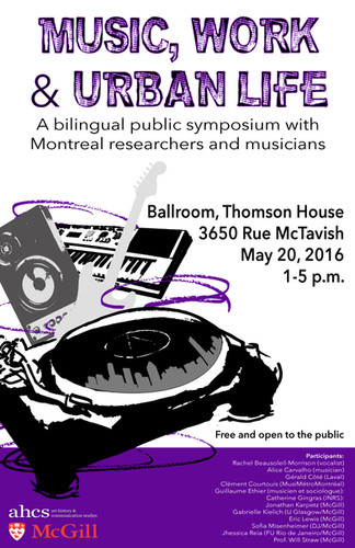 Music, Work & Urban Life Conference (poster 2)