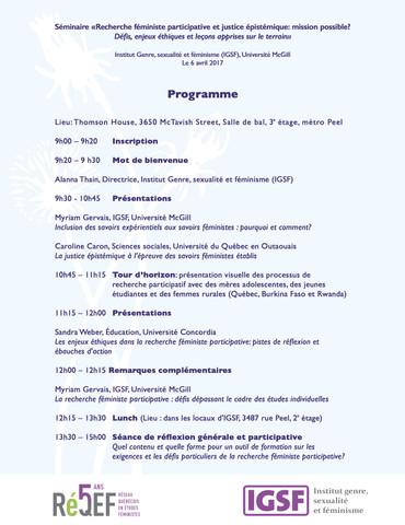 Conference Program | Programme du conference