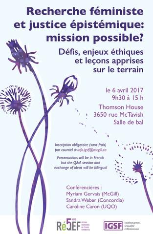 Feminist Research Conference | Recherche Féministe Conference