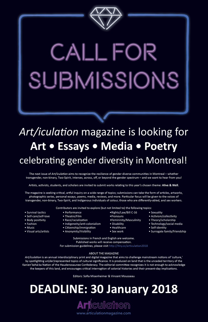 """""""Alive & Well,"""" Call for Submissions"""