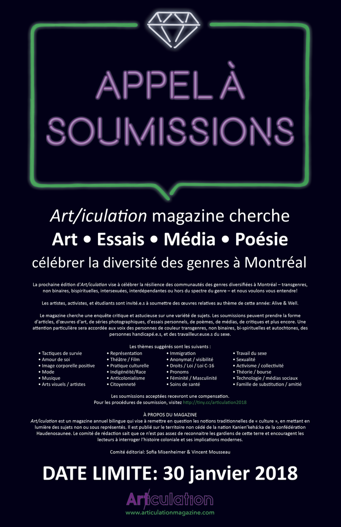 """""""Alive & Well, """"Appel aux soumissions"""