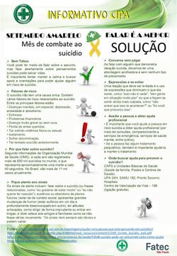 Informativo set20 - Prevencao ao Suicidi