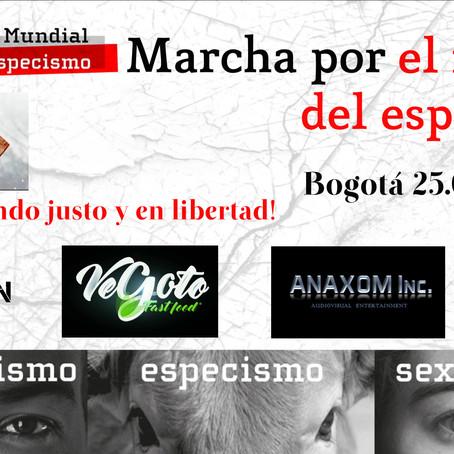 I Marcha Mundial por el fin del especismo. Bogotá-Colombia