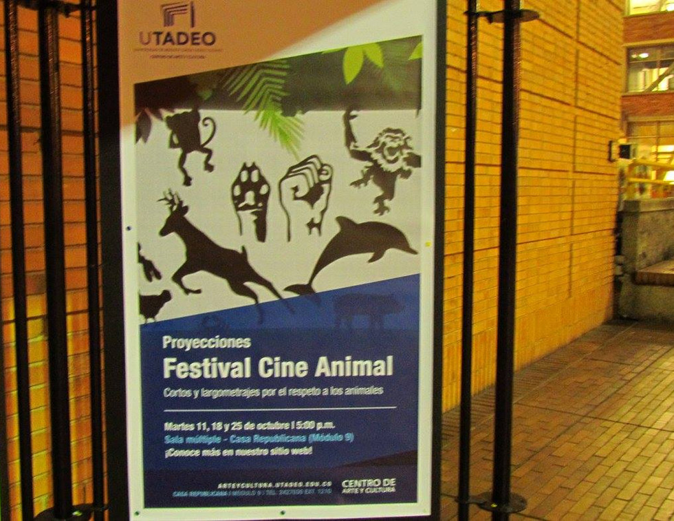 EvoluZOOn Cine Animal Fest universidad jorge tadeo lozano