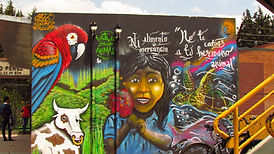 EvoluZOOn Mural INEM Tunal Educación libre de especismo