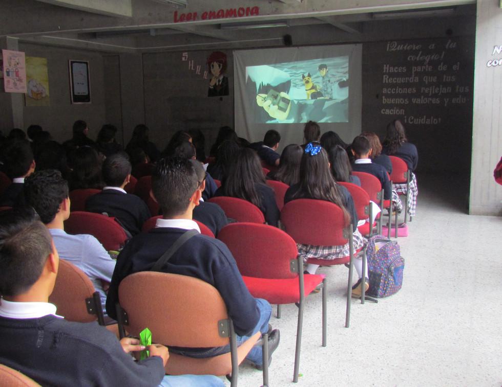 EvoluZOOn Cine Animal Fest colegio fe y alegría San Ignacio Bosa
