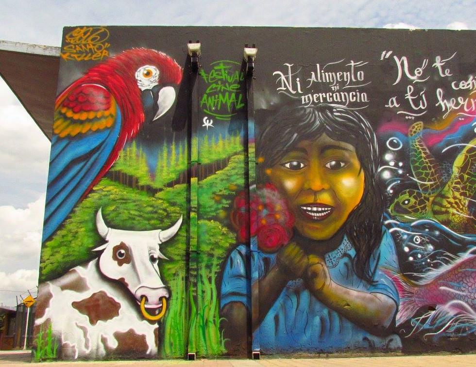 EvoluZOOn Educación libre de especismo mural INEM Tunal Bogotá