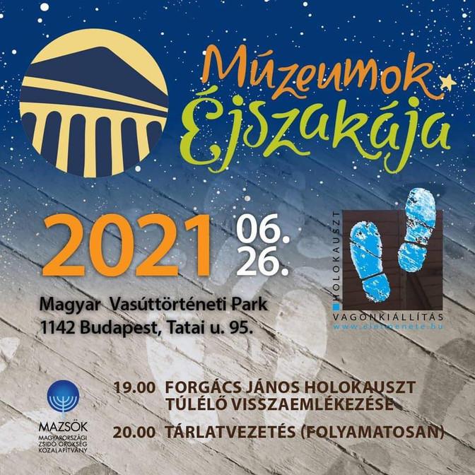 MÚZEUMOK ÉJSZAKÁJA 2021