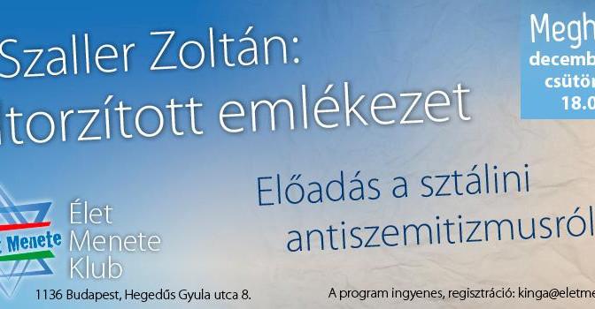 SZALLER ZOLTÁN AZ ÉLET MENETE KLUBBAN