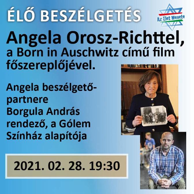 ÉLŐ BESZÉLGETÉS ANGELA OROSZ-RICHTTEL