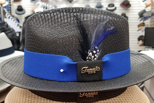 Black w/blue band Short Brim Viejo