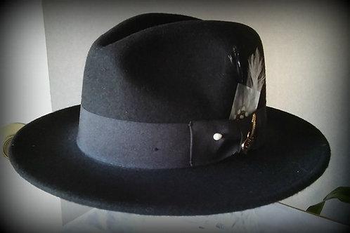 Santana custom Black 100% wool hat