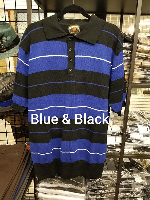 Blue & Black Stripe Charlie Brown knit shirt