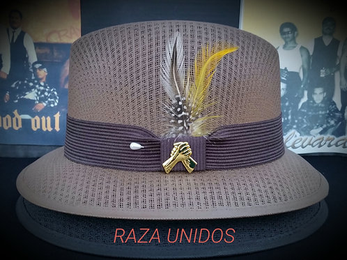 Traditional  Garcia Coconut Brown Lowrider with pin