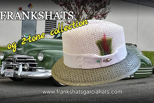 Traditional Two Tone Olive & White