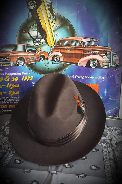 Gangster Coco Brown Wool hat