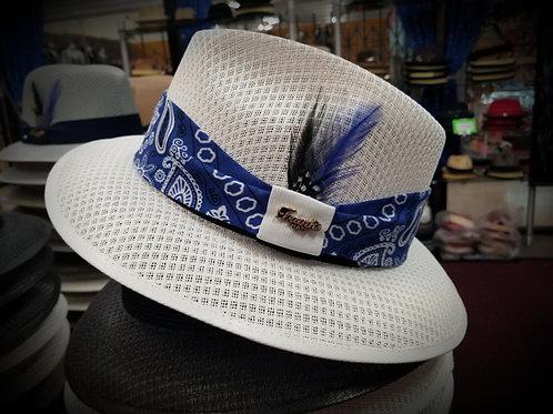 White Viejo w/ Royal Blue Bandana