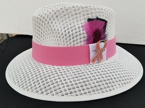 Custom White Viejo Fight Support Cancer Hat