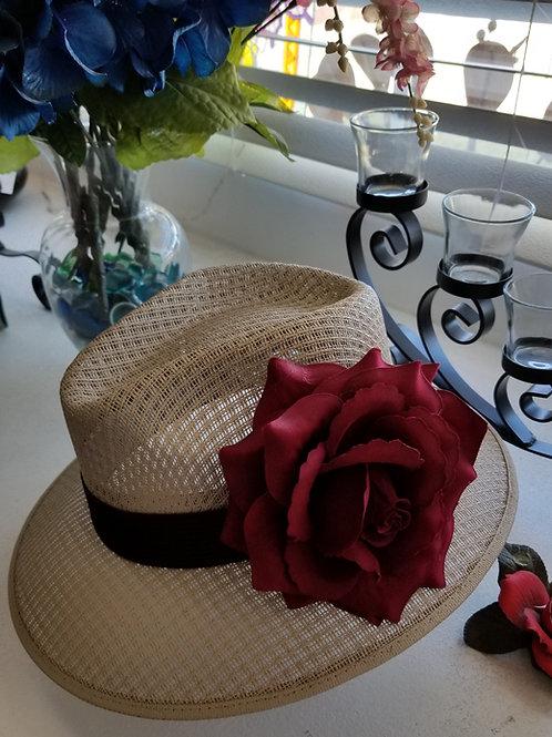 Ladies Viejo khaki with Flower