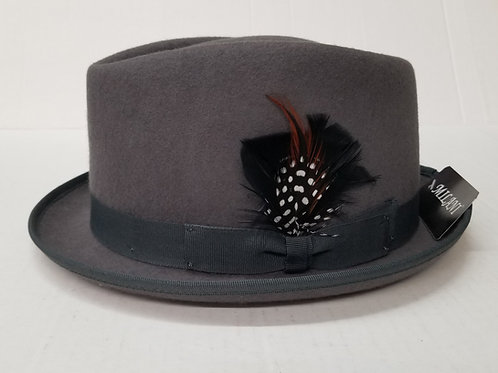 Gray Diamond Cut Wool Hat