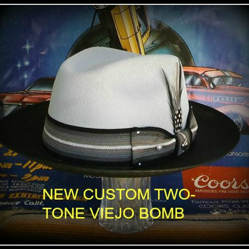 NEW CUSTOM TWO TONE CLASSIC VIEJO LT.GRAY/BLACK