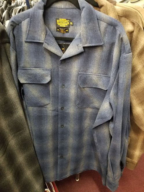 NAVY & GRAY FB COUNTY Pendleton Shirt