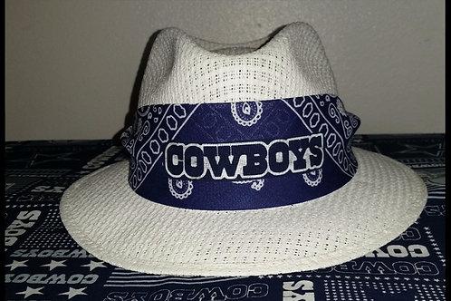 Dallas Cowboys Bandana White Viejo Hat