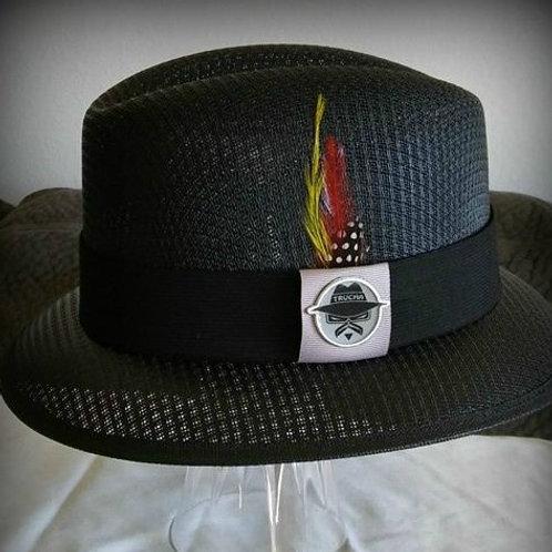 Traditional Lowrider Black hat with Trucha Emblem