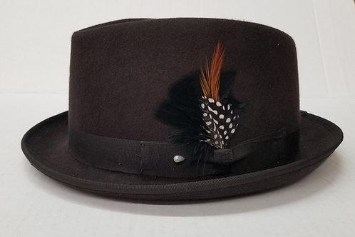 Brown Diamond Cut Wool Hat